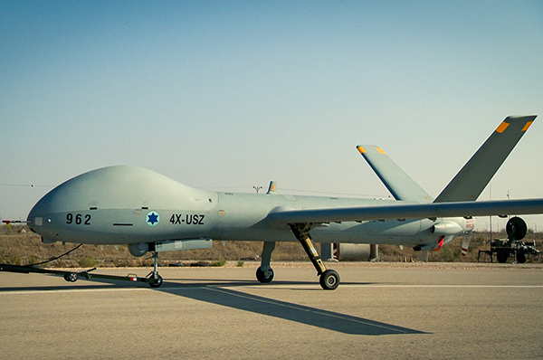 Illustration of the Hermes 900 UAS that is in service with the Israeli Air Force