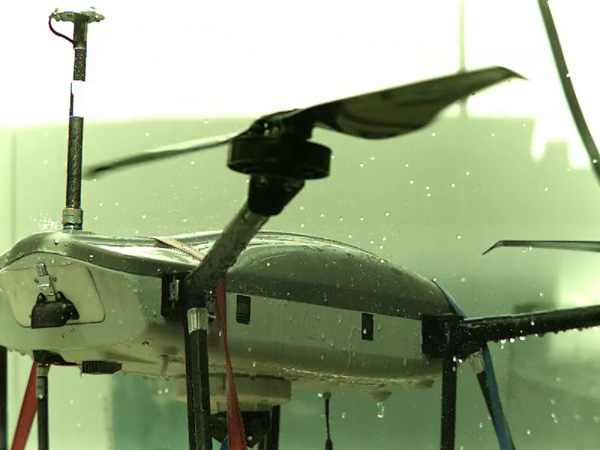 The tests demonstrated the capability of THOR to withstand hard gusting rain